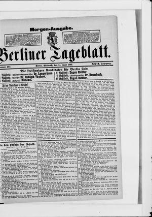 Berliner Tageblatt und Handels-Zeitung vom 14.06.1893