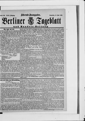 Berliner Tageblatt und Handels-Zeitung vom 15.06.1893