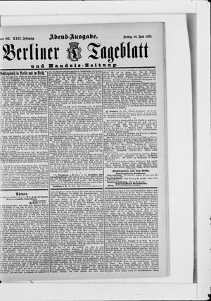 Berliner Tageblatt und Handels-Zeitung vom 16.06.1893
