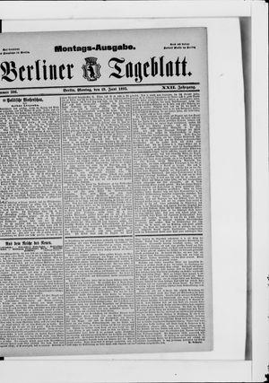 Berliner Tageblatt und Handels-Zeitung vom 19.06.1893