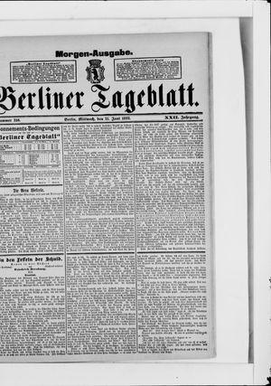 Berliner Tageblatt und Handels-Zeitung vom 21.06.1893