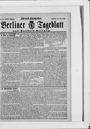 Berliner Tageblatt und Handels-Zeitung on Jun 22, 1893