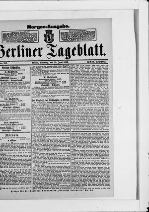 Berliner Tageblatt und Handels-Zeitung vom 25.06.1893