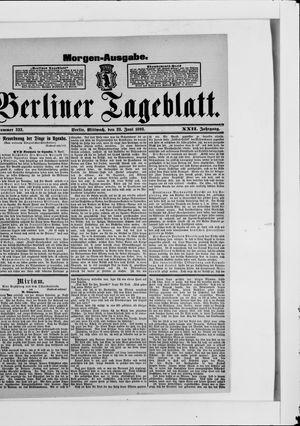 Berliner Tageblatt und Handels-Zeitung vom 28.06.1893