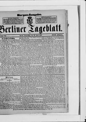 Berliner Tageblatt und Handels-Zeitung vom 29.06.1893