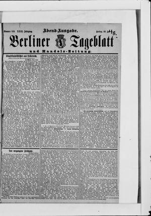 Berliner Tageblatt und Handels-Zeitung vom 30.06.1893