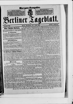 Berliner Tageblatt und Handels-Zeitung vom 01.07.1893