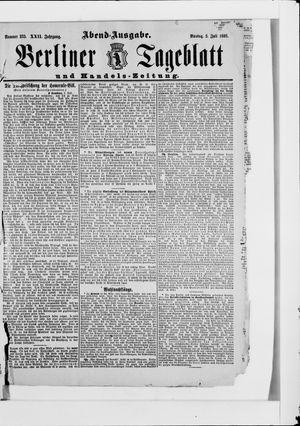 Berliner Tageblatt und Handels-Zeitung vom 03.07.1893
