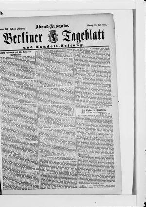 Berliner Tageblatt und Handels-Zeitung vom 10.07.1893