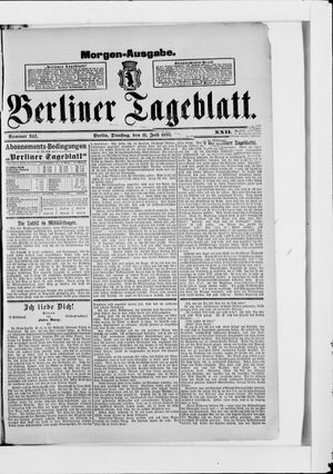 Berliner Tageblatt und Handels-Zeitung vom 11.07.1893