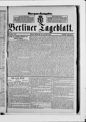 Berliner Tageblatt und Handels-Zeitung vom 12.07.1893