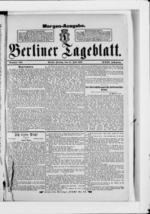 Berliner Tageblatt und Handels-Zeitung vom 14.07.1893