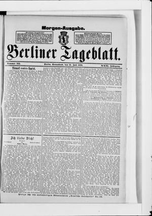 Berliner Tageblatt und Handels-Zeitung vom 15.07.1893