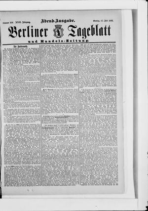 Berliner Tageblatt und Handels-Zeitung on Jul 17, 1893
