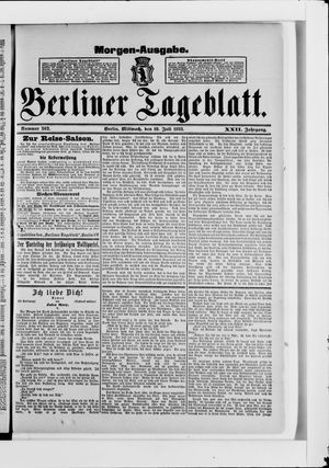 Berliner Tageblatt und Handels-Zeitung vom 19.07.1893