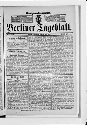 Berliner Tageblatt und Handels-Zeitung vom 20.07.1893