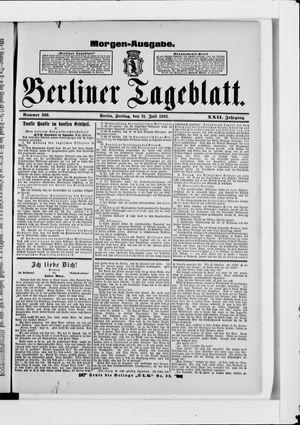 Berliner Tageblatt und Handels-Zeitung on Jul 21, 1893