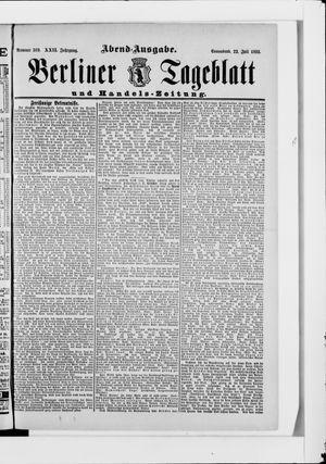 Berliner Tageblatt und Handels-Zeitung vom 22.07.1893