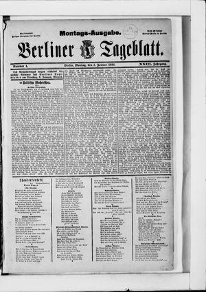 Berliner Tageblatt und Handels-Zeitung vom 01.01.1894