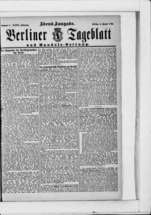 Berliner Tageblatt und Handels-Zeitung vom 05.01.1894