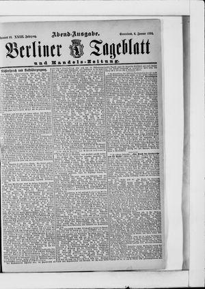 Berliner Tageblatt und Handels-Zeitung vom 06.01.1894