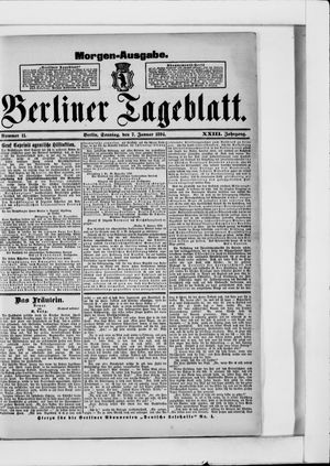 Berliner Tageblatt und Handels-Zeitung vom 07.01.1894