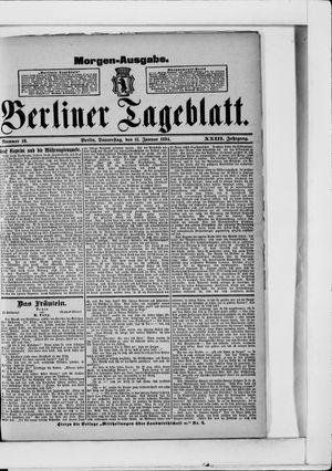 Berliner Tageblatt und Handels-Zeitung vom 11.01.1894