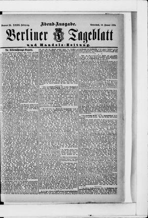 Berliner Tageblatt und Handels-Zeitung vom 13.01.1894