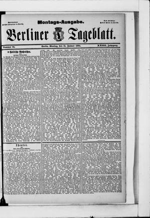 Berliner Tageblatt und Handels-Zeitung vom 15.01.1894