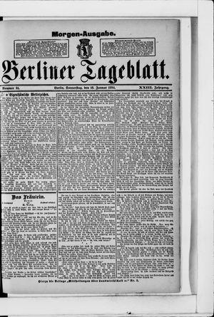Berliner Tageblatt und Handels-Zeitung vom 18.01.1894