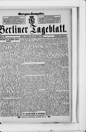 Berliner Tageblatt und Handels-Zeitung vom 19.01.1894