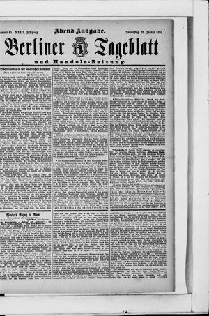 Berliner Tageblatt und Handels-Zeitung vom 25.01.1894