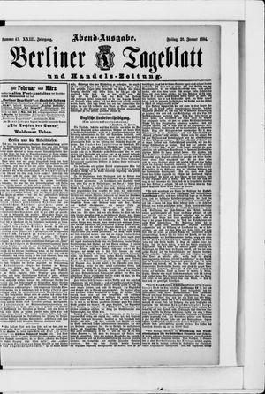 Berliner Tageblatt und Handels-Zeitung vom 26.01.1894