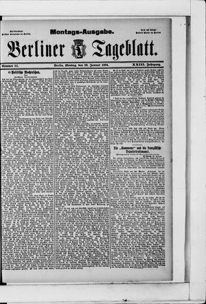 Berliner Tageblatt und Handels-Zeitung vom 29.01.1894