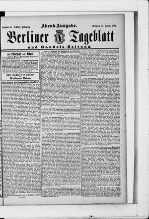 Berliner Tageblatt und Handels-Zeitung vom 31.01.1894