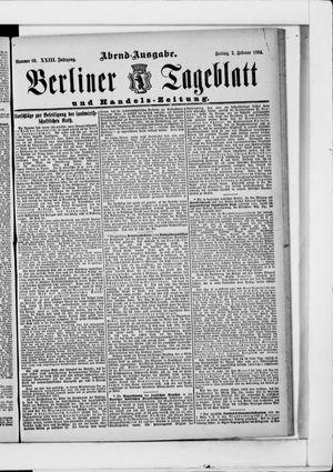 Berliner Tageblatt und Handels-Zeitung vom 02.02.1894