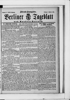 Berliner Tageblatt und Handels-Zeitung vom 06.02.1894
