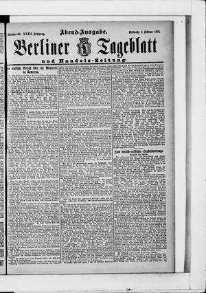 Berliner Tageblatt und Handels-Zeitung vom 07.02.1894