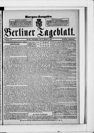 Berliner Tageblatt und Handels-Zeitung vom 08.02.1894