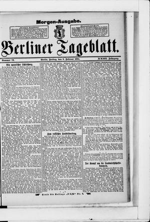 Berliner Tageblatt und Handels-Zeitung vom 09.02.1894