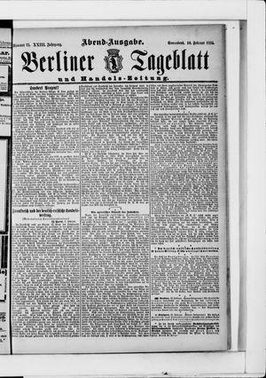 Berliner Tageblatt und Handels-Zeitung vom 10.02.1894