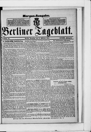 Berliner Tageblatt und Handels-Zeitung vom 11.02.1894