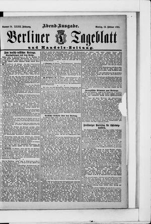 Berliner Tageblatt und Handels-Zeitung vom 12.02.1894