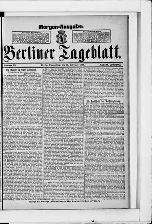 Berliner Tageblatt und Handels-Zeitung vom 15.02.1894