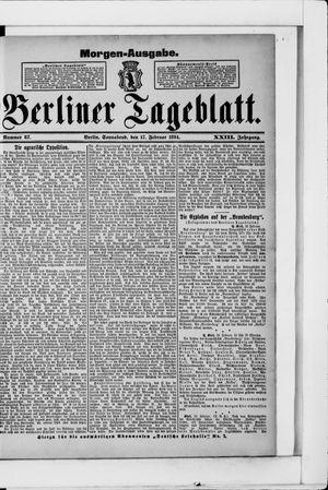 Berliner Tageblatt und Handels-Zeitung vom 17.02.1894
