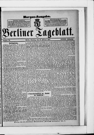 Berliner Tageblatt und Handels-Zeitung vom 18.02.1894