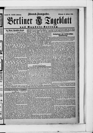 Berliner Tageblatt und Handels-Zeitung vom 21.02.1894