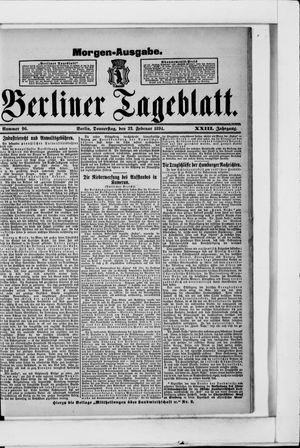 Berliner Tageblatt und Handels-Zeitung vom 22.02.1894