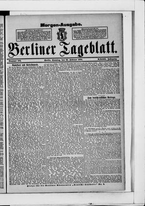 Berliner Tageblatt und Handels-Zeitung vom 25.02.1894