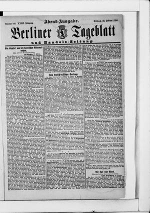 Berliner Tageblatt und Handels-Zeitung vom 28.02.1894